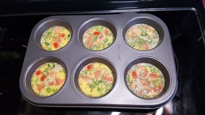 Tomato, Basil and Green Onion Before Baking